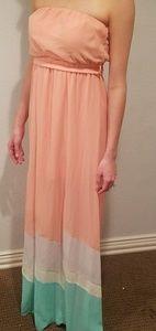 Sheer bottom flowy dress